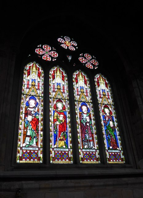 St Mary, Melton Mowbray: stained glass window (M)
