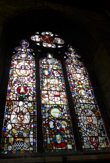 St Mary, Melton Mowbray: stained glass window (N)