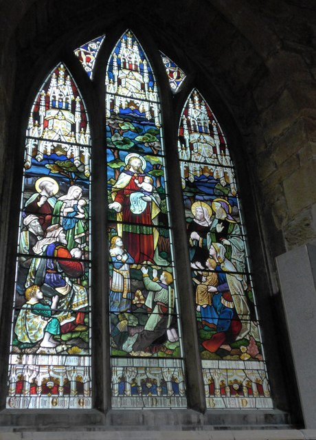 St Mary, Melton Mowbray: stained glass window (Q)