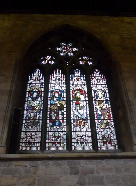 St Mary, Melton Mowbray: stained glass window (O)