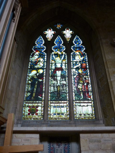 St Mary, Melton Mowbray: stained glass window (P)