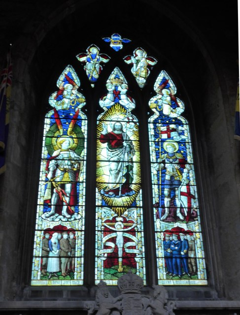 St Mary, Melton Mowbray: stained glass window (R)