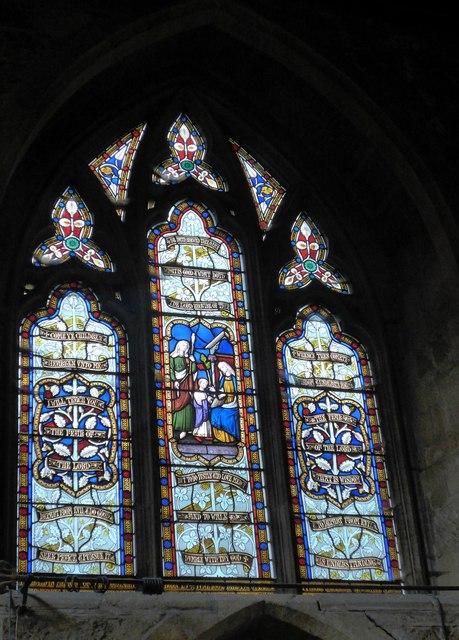 St Mary, Melton Mowbray: stained glass window (U)