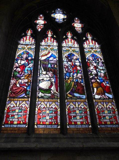 St Mary, Melton Mowbray: stained glass window (W)