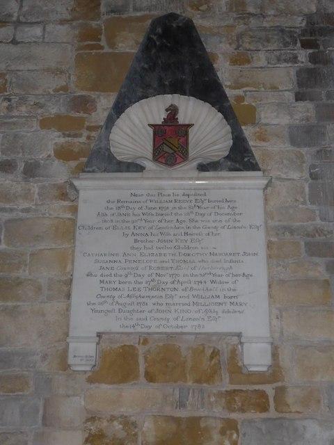 St Mary, Melton Mowbray: memorial (1)