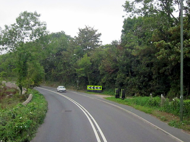 Bend on A3022 Between Brixham and Churston