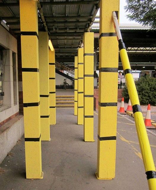 Building work, Newton Abbot station