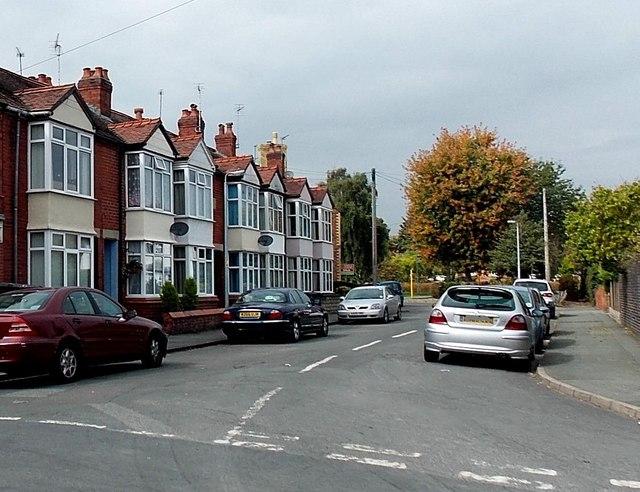 Lloyd Street houses in Oswestry
