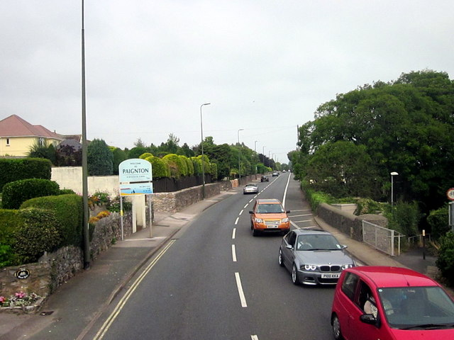 Paignton Town Sign on A379