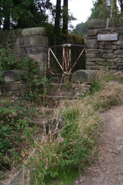 Old turnstile next to the Torside Reservoir Dam