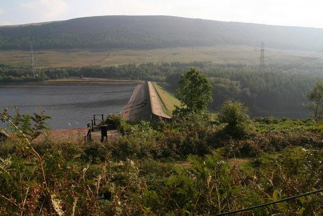 Pennine Way Crossing the Torside Reservoir Dam