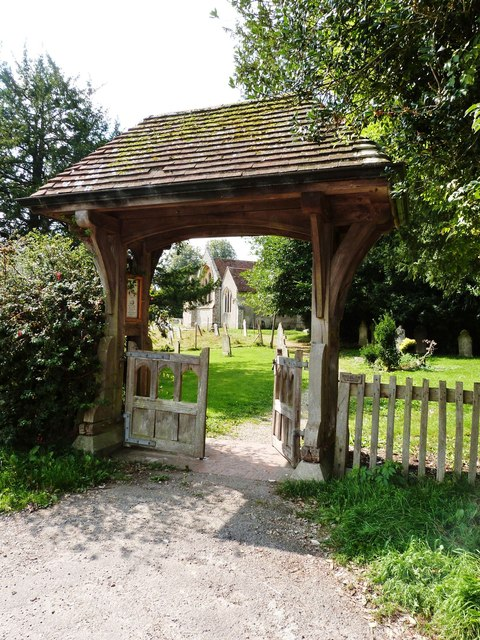 St. Mary's Church seen through its lych gate