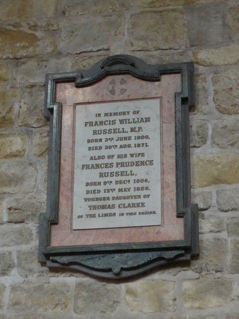 St Mary, Melton Mowbray: memorial (3)