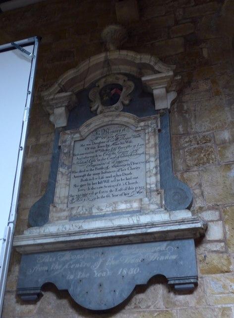 St Mary, Melton Mowbray: memorial (4)