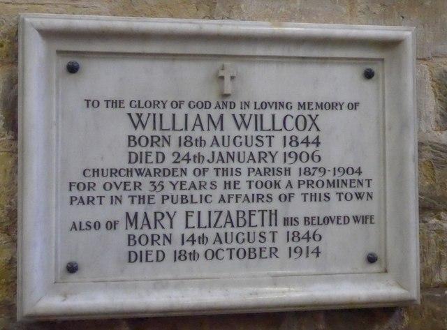 St Mary, Melton Mowbray: memorial (5)