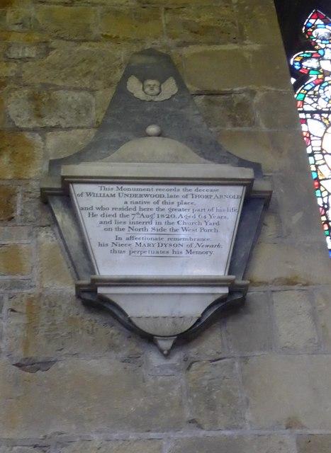 St Mary, Melton Mowbray: memorial (6)