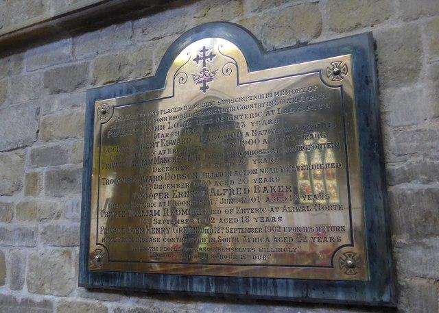 St Mary, Melton Mowbray: Boer War memorial
