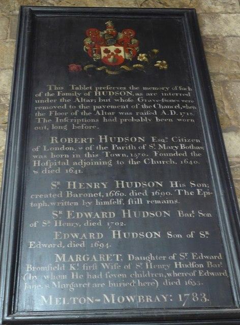 St Mary, Melton Mowbray: memorial (9)