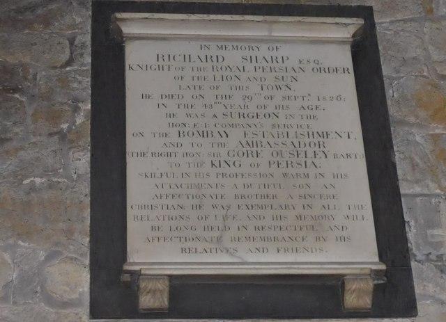 St Mary, Melton Mowbray: memorial (10)