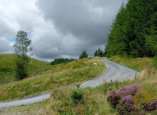 The road to Llanddewi-Brefi, Ceredigion