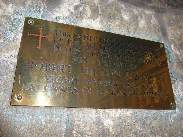 St Mary, Melton Mowbray: memorial (14)