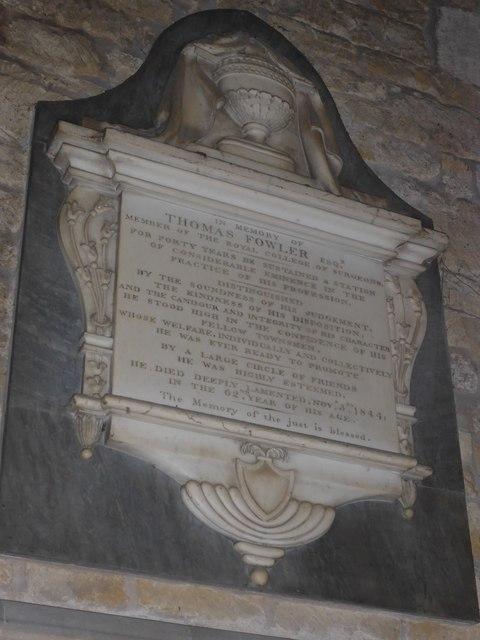 St Mary, Melton Mowbray: memorial (16)
