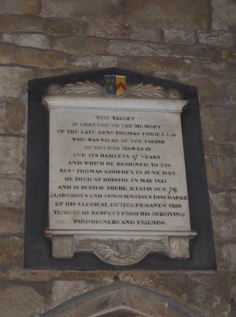 St Mary, Melton Mowbray: memorial (17)