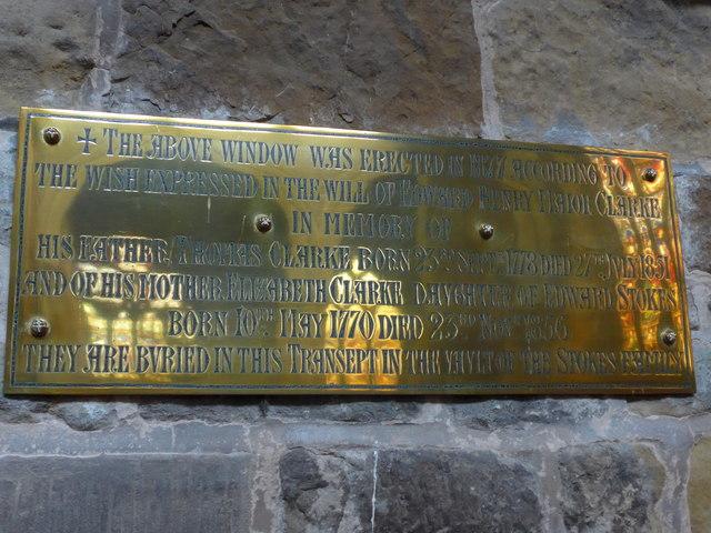 St Mary, Melton Mowbray: memorial (19)