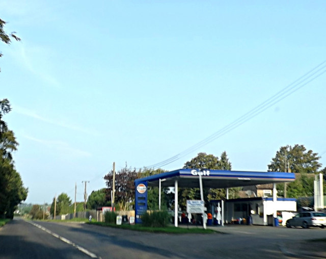 Fuel Filling Station on the B1506 Bury Road