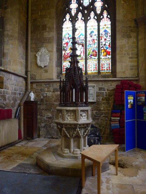 St Mary, Melton Mowbray: font