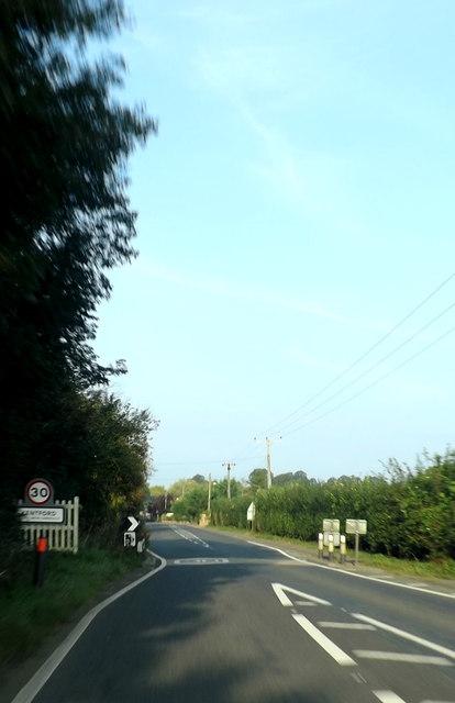 Entering Kentford on the B1506 Bury Road