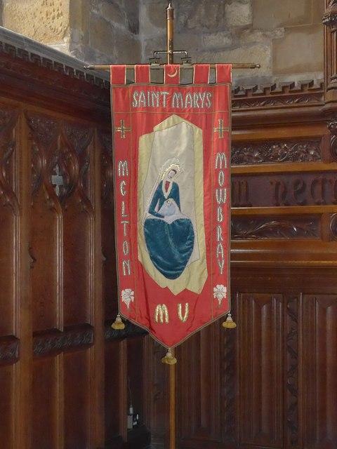 St Mary, Melton Mowbray: banner