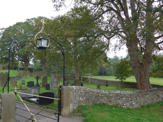 St Peter, Addingham: church gate