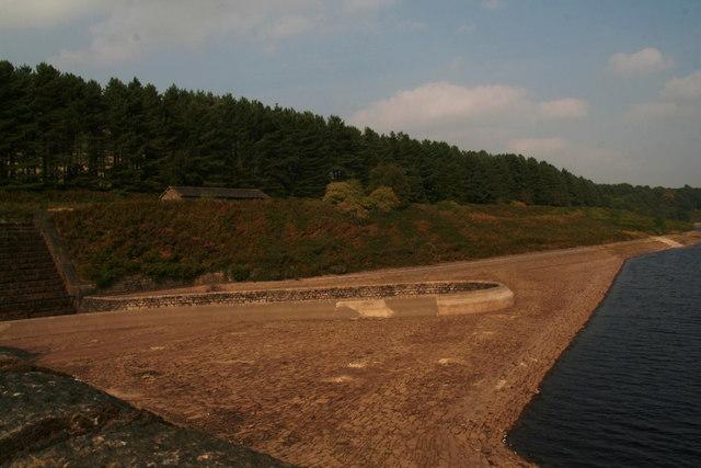 Torside Reservoir overflow channel