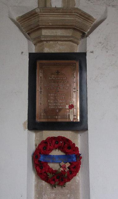 St Giles, Bradfield - War Memorial WWI