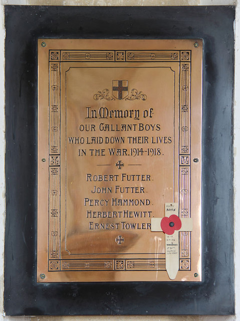 St Giles, Bradfield - War Memorial WWI