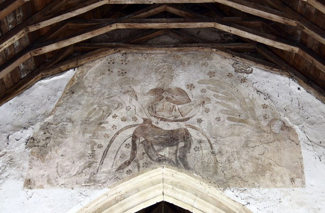 St Giles, Bradfield - Wall painting