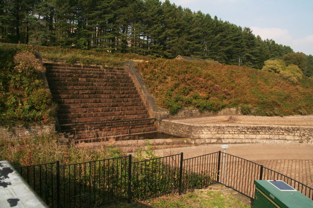 Weir by Torside Reservoir Dam Head