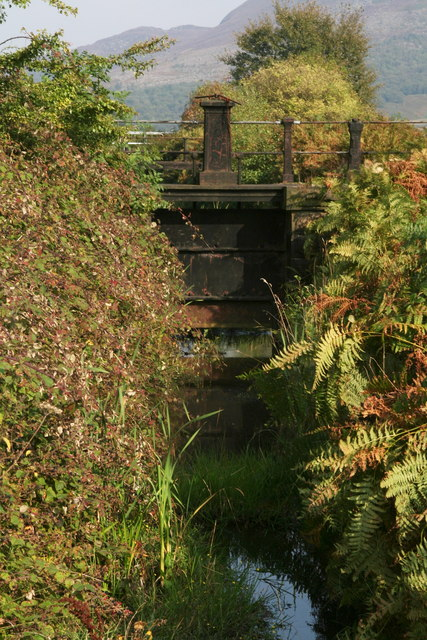 Sluice on a brook next to the Torside Reservoir Dam