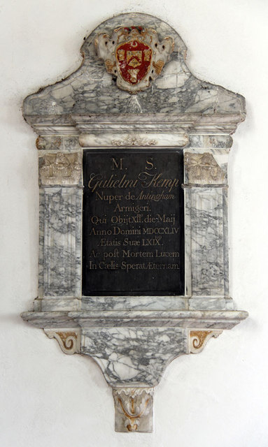 St Mary, Antingham - Wall monument