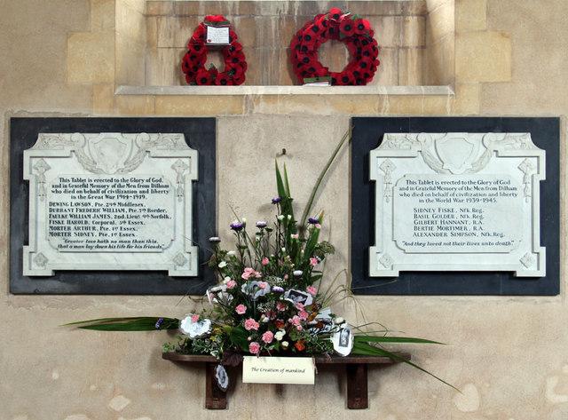 St Nicholas, Dilham - War Memorial WWI & WWII