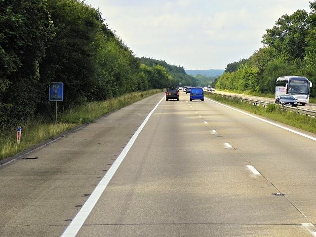 M3 Motorway passing through Micheldever Wood