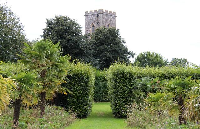 The Old Vicarage Gardens, East Ruston - East Ruston Church