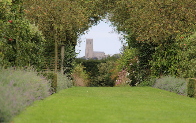 The Old Vicarage Gardens, East Ruston - View to Happisburgh Church