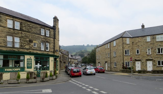 Shops and houses in Pateley Bridge