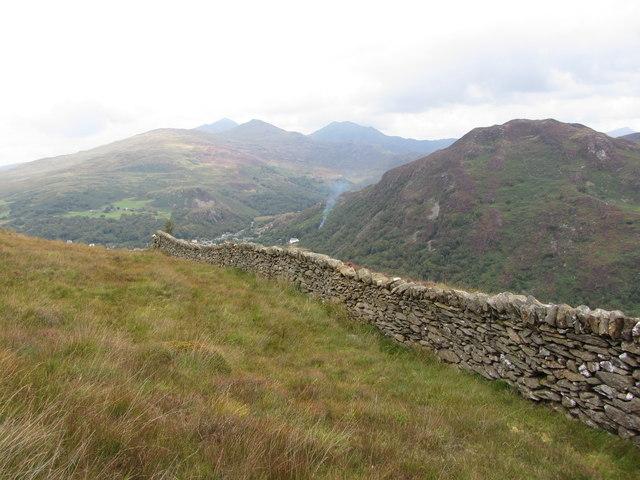 Wall on Bryn y Felin