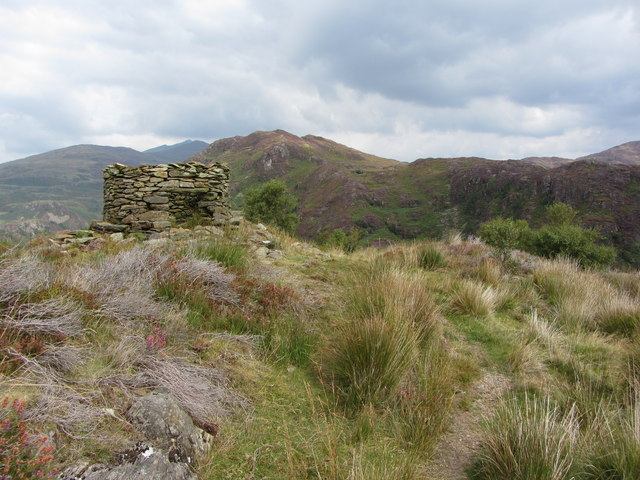 Old tower on top of Bryn Du