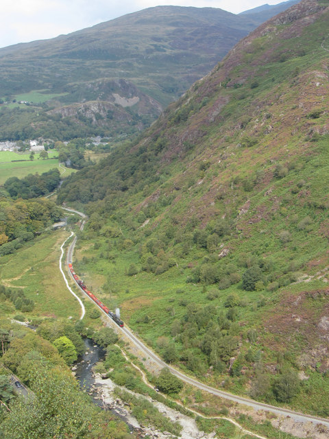 View from Bryn Du over the Pass of Aberglaslyn