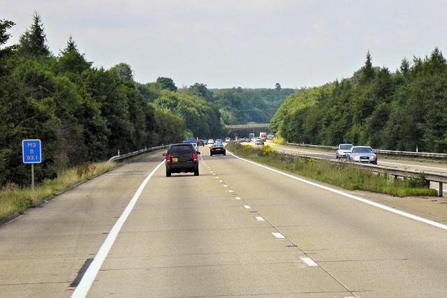Northbound M3 near East Stratton