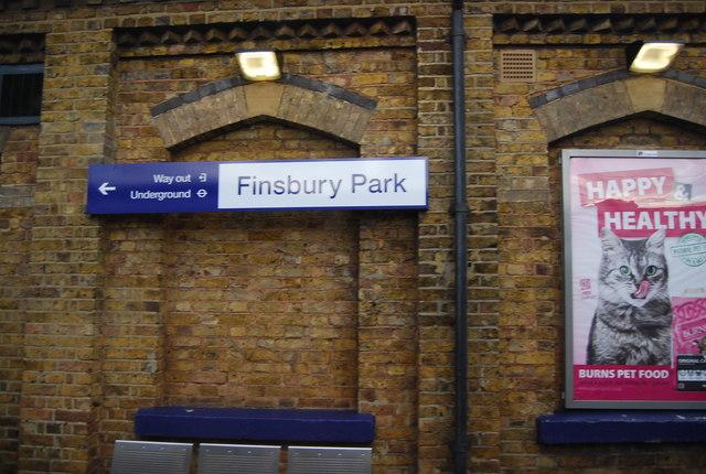 Sign, Finsbury Park Station